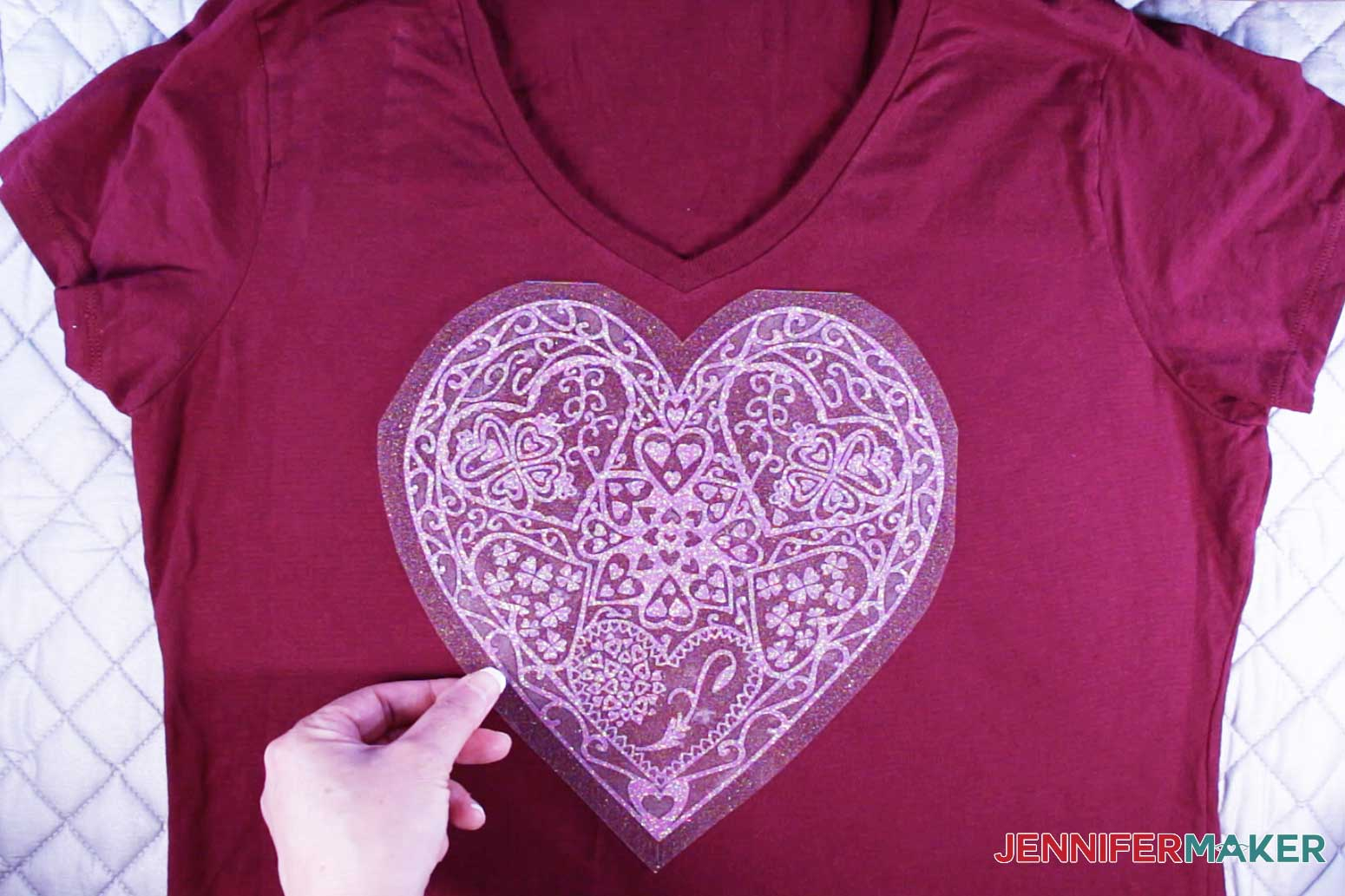 Align the heart mandala tshirt decal