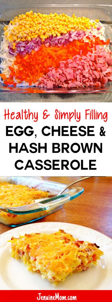 Healthy Egg, Cheese, & Hash Brown Casserole is 100% Simply Filling on Weight Watchers! | JenuineMom.com