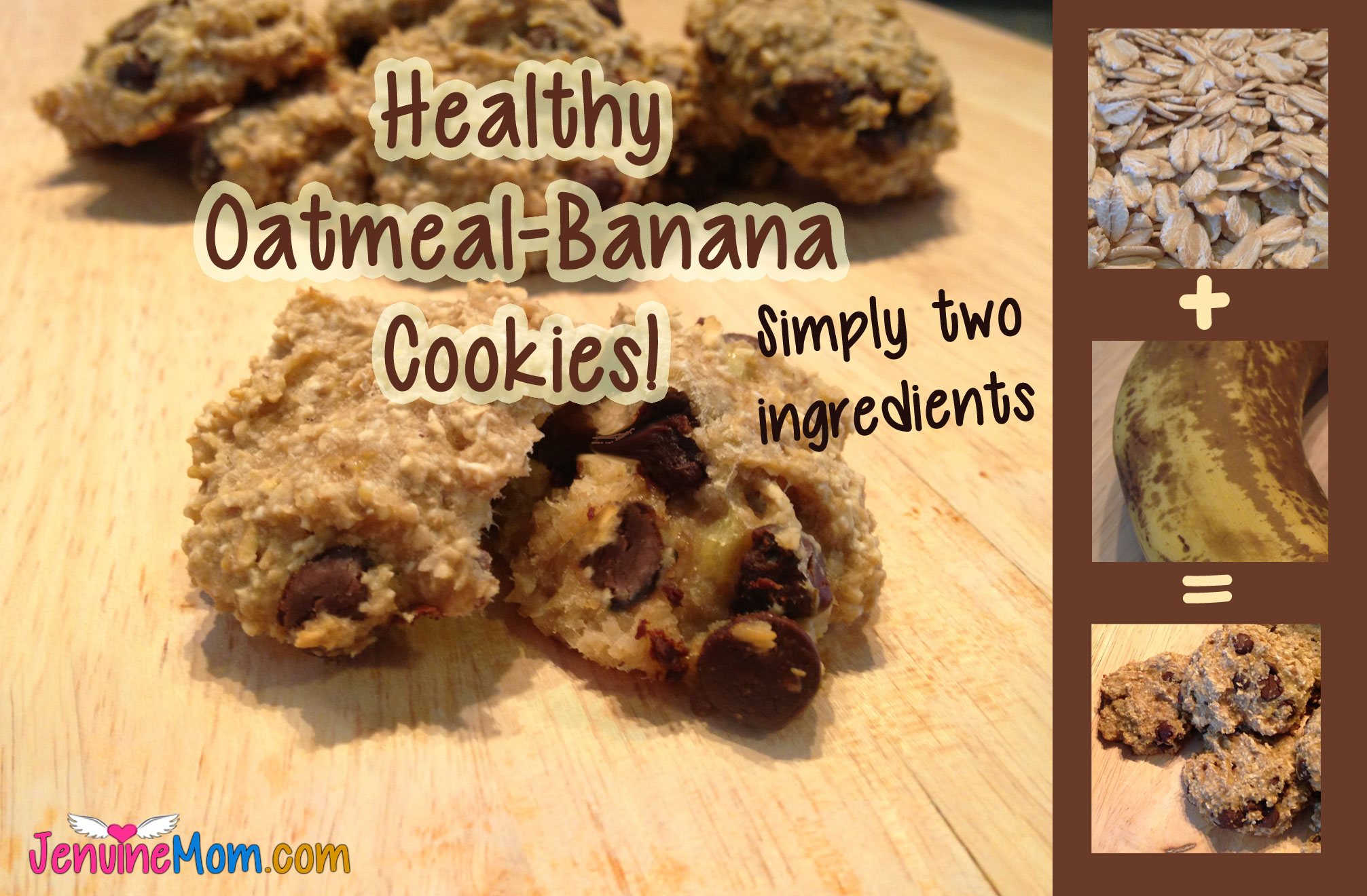 Healthy Oatmeal-Banana Cookies