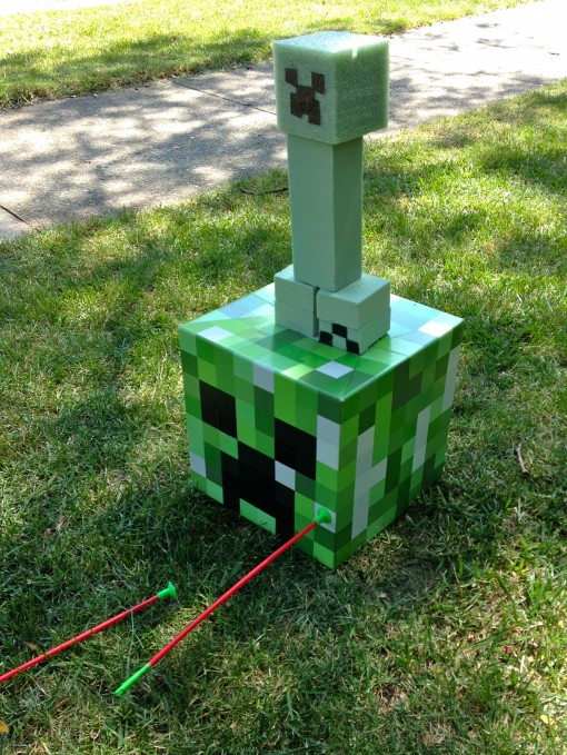 Minecraft party ideas, activities, and printables for my daughter's epic party that was prepared in just one day -- includes ALL the printables we used! | JenuineMom.com