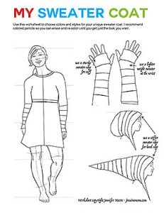 Free Sweater Coat Worksheet by JenuineMom.com