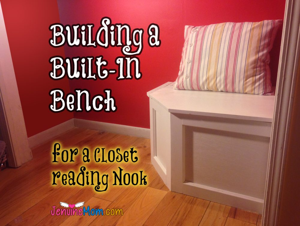 DIY built-in bench with hidden storage -- perfect for a reading nook!