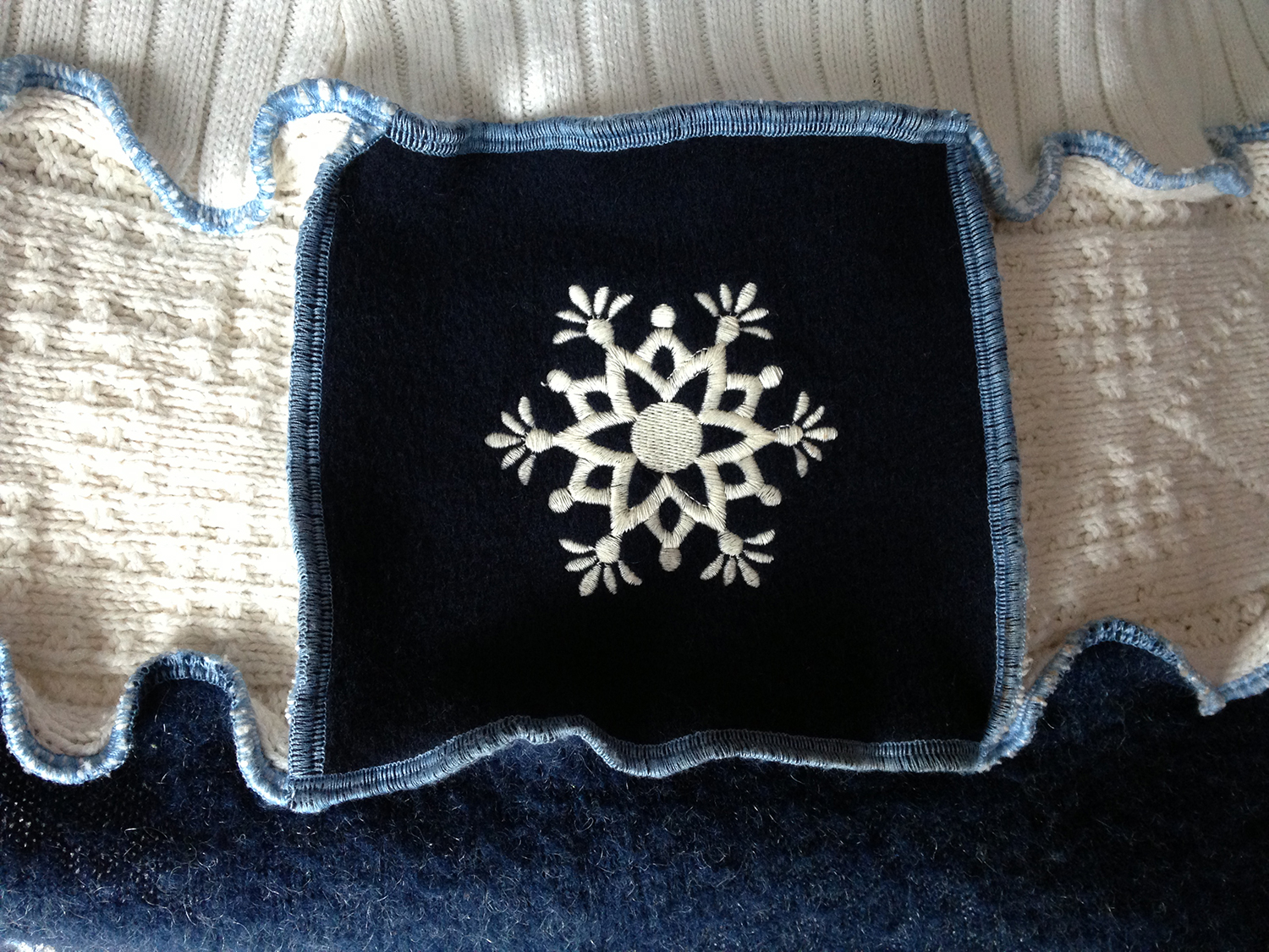How I Made My Snowflake Sweater Coat from Upcycled Sweaters | JenuineMom.com