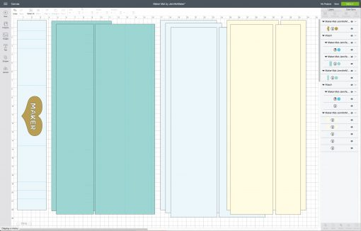 Uploading the Cricut Maker Mat SVG to Cricut Design Space