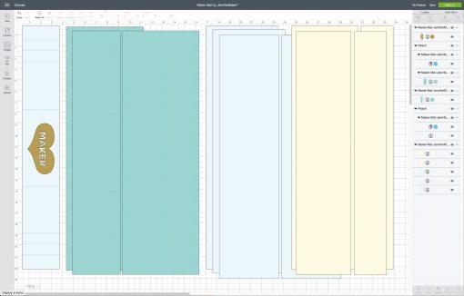 Uploading the Cricut Maker Mat SVG to Cricut Design Space