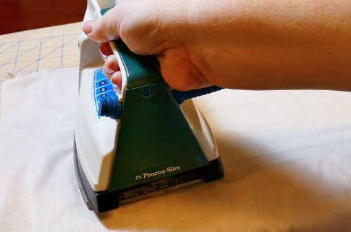 Fuse your interfacing to the back of your fabric layers