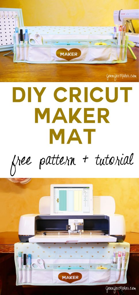 Cricut Maker Mat Tutorial | Dust Cover | Tool Organizer | Free Cut File and Pattern