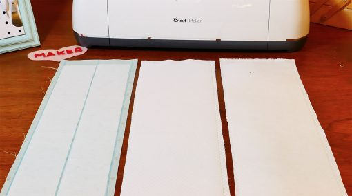 Match up the fabric panels and interfacing.