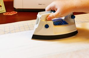 Iron your fabric before cutting on the Cricut Maker
