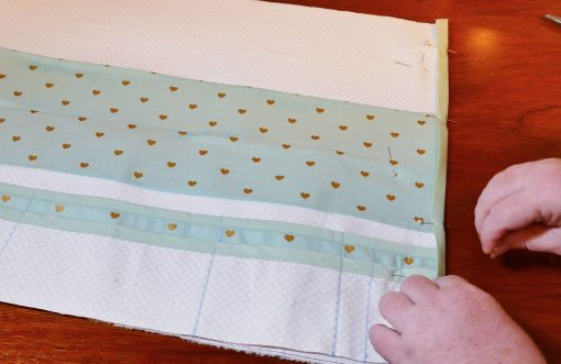 Pin the bias tape to the Maker Mat