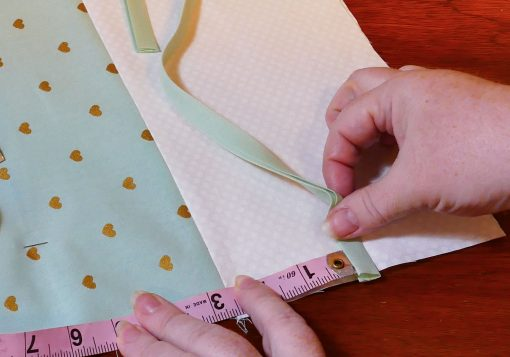 Put the ties in the right spot on the Maker Mat