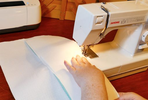 Sew the panels together for your Cricut Maker Mat