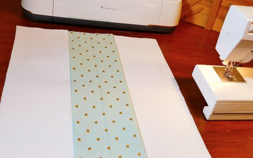 Layers sewn together for Cricut Maker