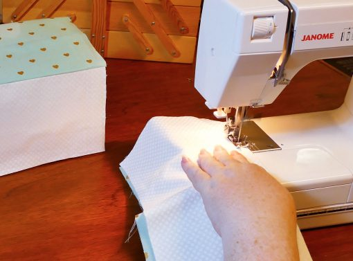 Sew the lining layers together for your Cricut Maker Mat