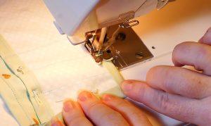 Sew the corner of the Cricut Maker Mat