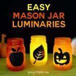 DIY Easy Mason Jar Luminaries for Halloween & Autumn   Luminarias   Patterns   Decorations