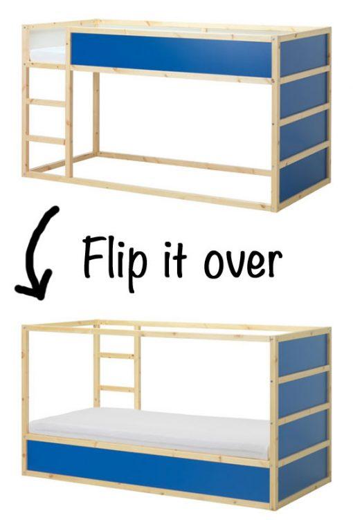 Flip the KURA bed over