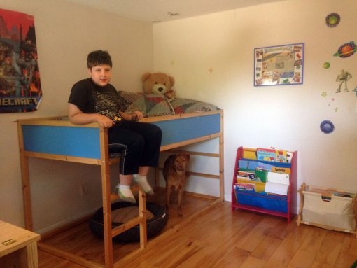 Alexander has outgrown his IKEA Kura Loft Bed for Kids
