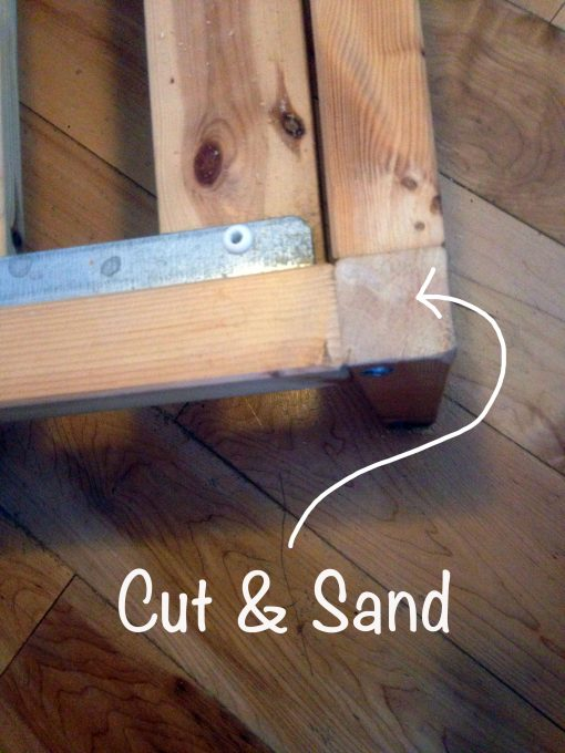Cut off the rails and sand the edges.