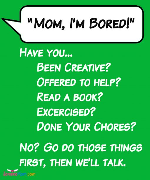 My checklist to combat boredom for work-at-home moms!