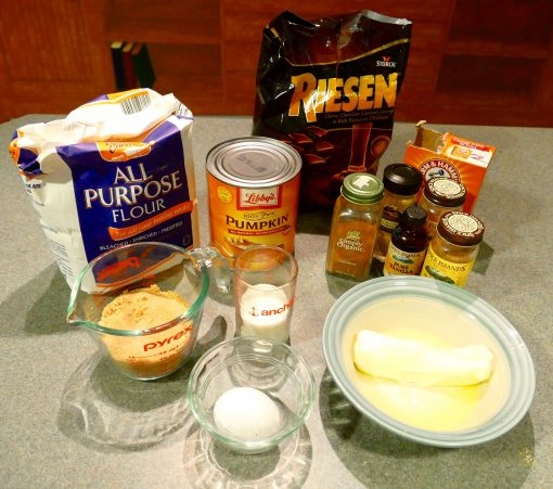 pumpkin cookies chocolate caramel ingredients