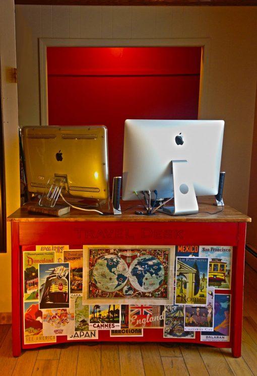 work-at-home mom desk