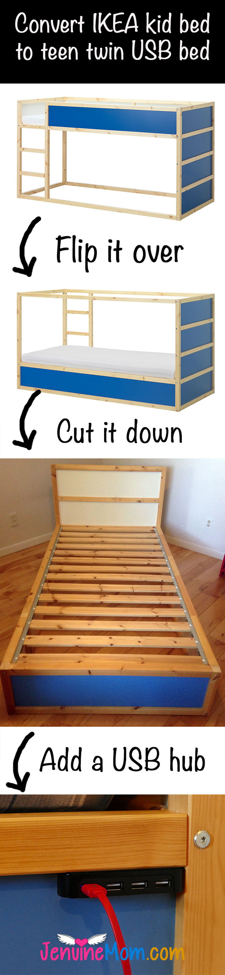 USB Bed Save Money By Hacking An IKEA KURA Bed Jennifer Maker - Does ikea have flooring