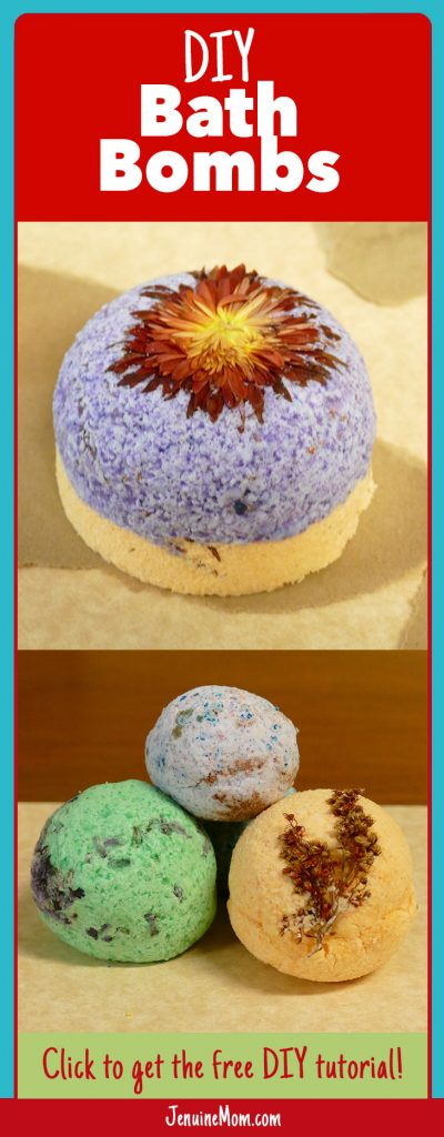 Bath Bomb DIY Tutorial -- Learn to make your own bath bombs! | JenuineMom.com