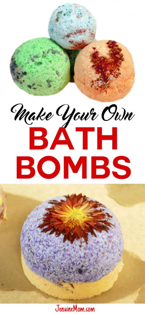 DIY bath bombs -- great gift idea! | JenuineMom.com