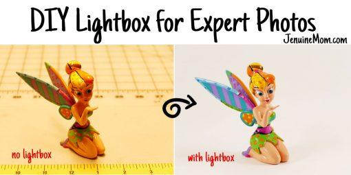 DIY Lightbox for Expert Photos that Wow! Step-By-Step Tutorial | JenuineMom.com