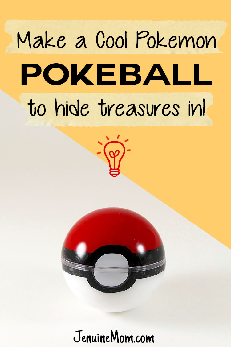 DIY Pokeball to Hide Your Treasures Inside -- Great Birthday Invitation or Gift Box! | JenuineMom.com