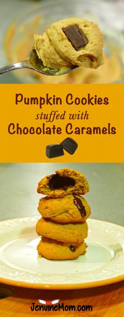 pumpkin-cookies-chocolate-caramels-gooey