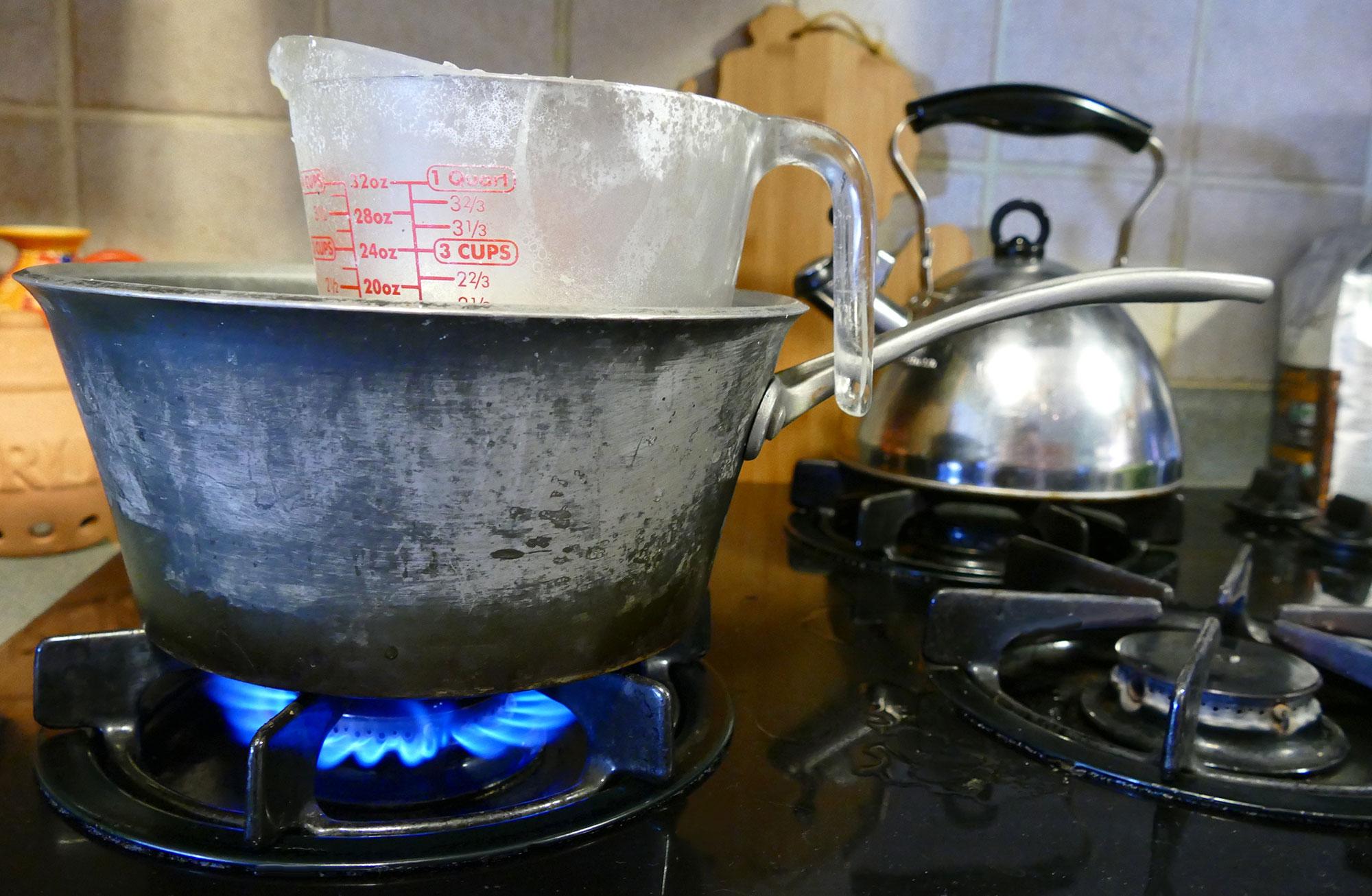 DIY Double Boiler (for melting wax, soap base, candy) - Jennifer Maker