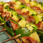 Hawaiian Pork & Pineapple Kabobs with Homemade Teriyaki Sauce