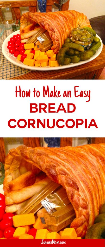 How to make an easy bread cornucopia for Thanksgiving! | JenuineMom.com