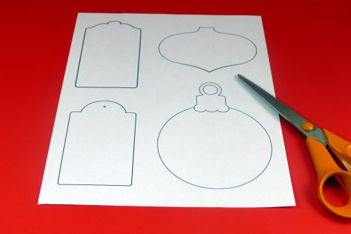 Print out the template for the DIY Chalkboard Gift tags to make Christmas gift tags
