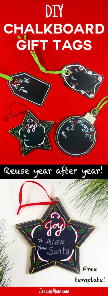 DIY Chalkboard Gift Tags -- Reuse Them Every Christmas! | JenuineMom.com