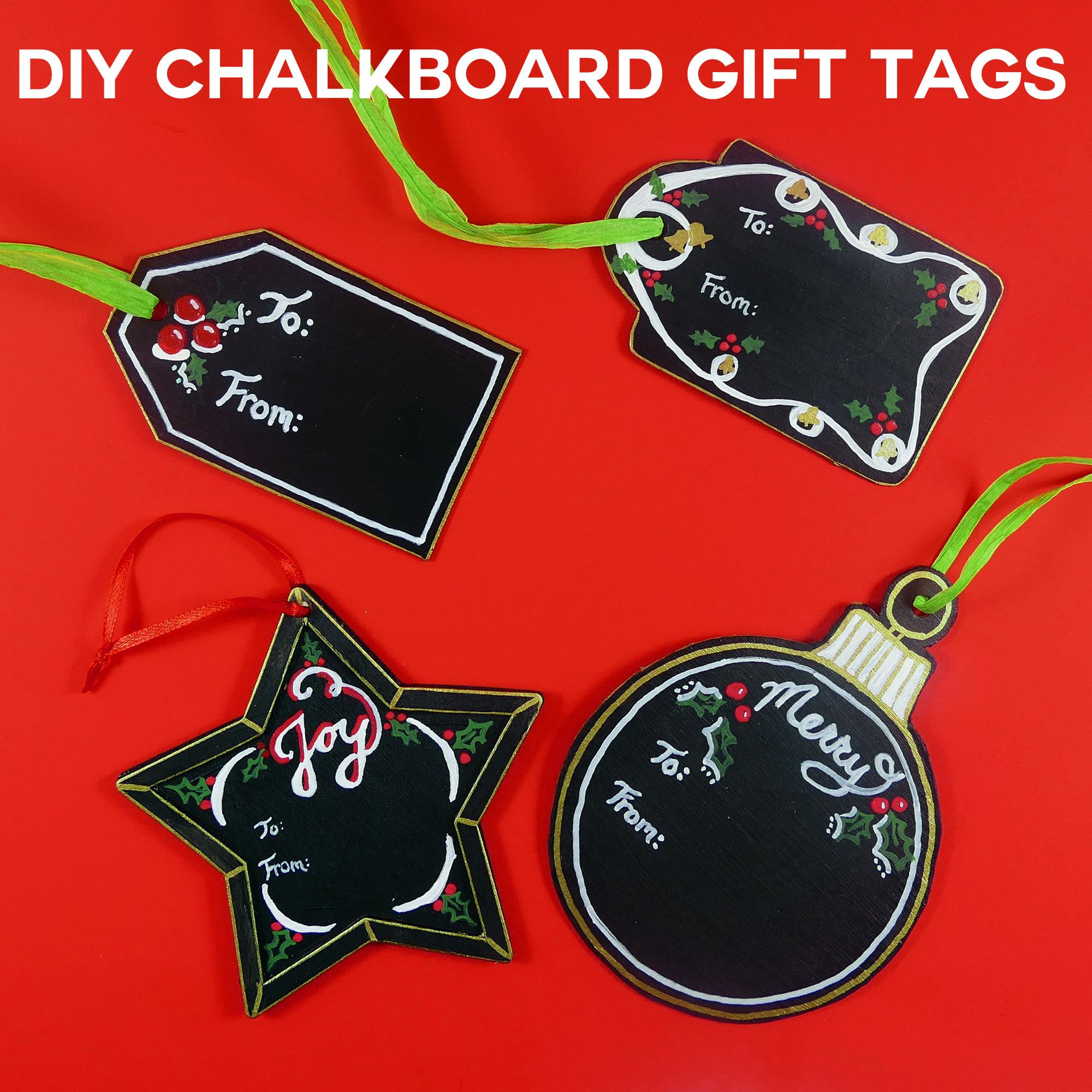Christmas Gift Tags Diy.Diy Chalkboard Gift Tags Reuse Every Christmas Jennifer