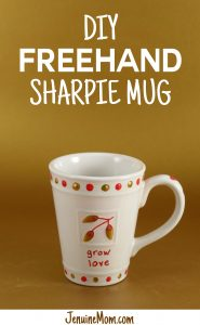 DIY Freehand Sharpie Mug Tutorial at JenniferMaker.com