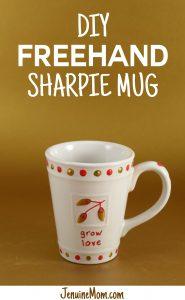 DIY Freehand Sharpie Mug Tutorial | JenuineMom.com