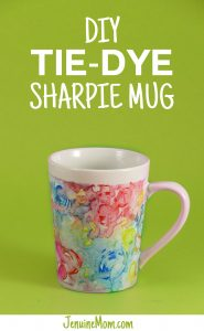 DIY Tie-Dye Sharpie Mug Tutorial at JenniferMaker.com