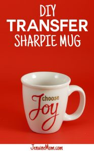 DIY Pattern Transfer Sharpie Mug Tutorial at JenniferMaker.com