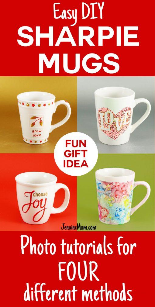 Fun gift idea! DIY Sharpie Mugs Tutorial   JenuineMom.com