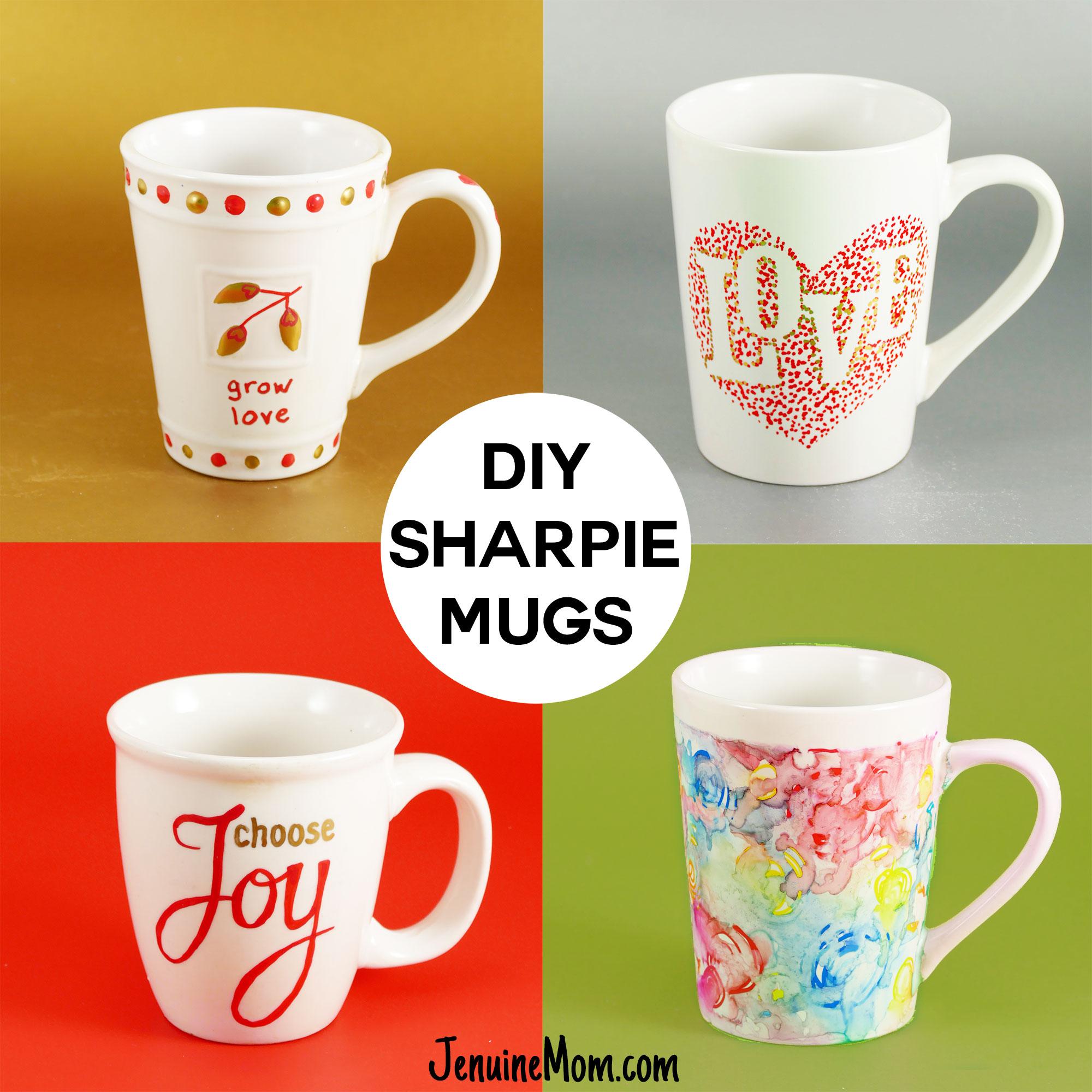 DIY Sharpie Mugs Tutorial   JenuineMom.com