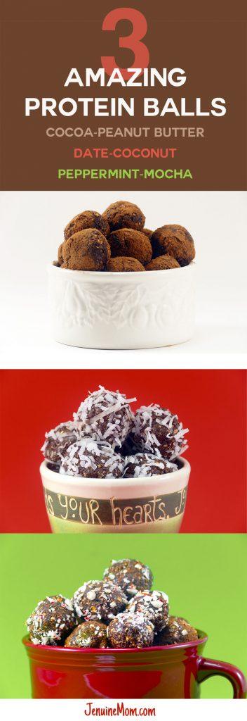 3 Amazing Protein Ball Recipes for Energy!   JenuineMom.com