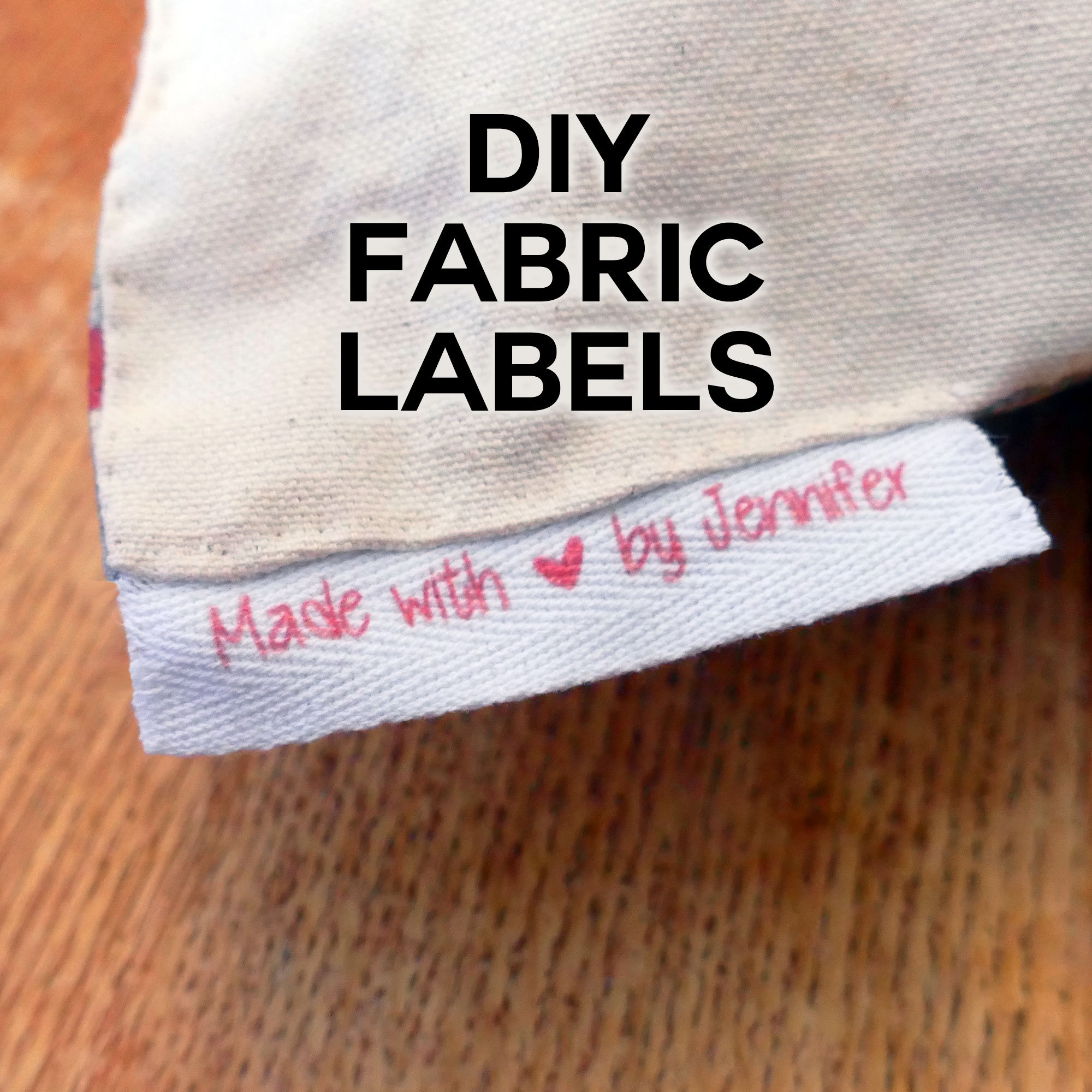 DIY Fabric Labels on Twill Tape - Jennifer Maker