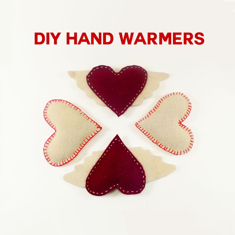 DIY Valentin-napi ajándék:filc kézmelegítő