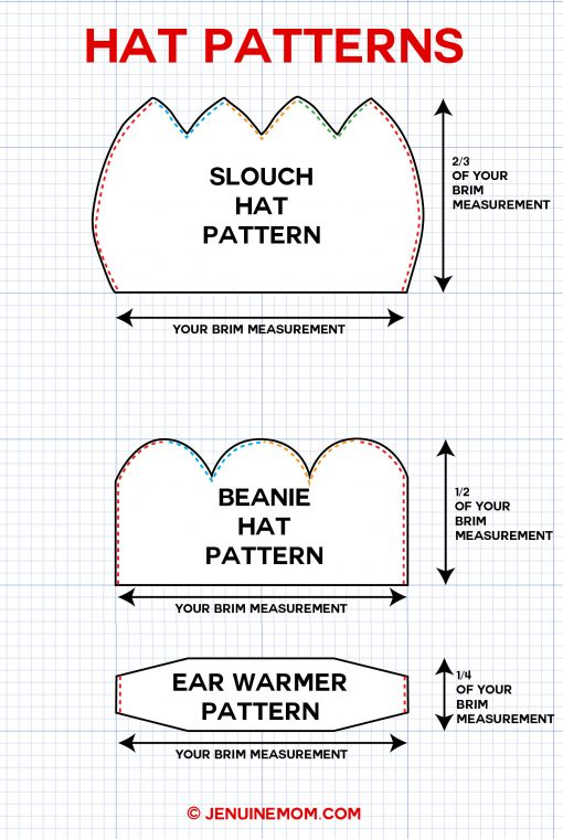 DIY Hat Patterns | Slouch Hat | Beanie Hat | Ear Warmer