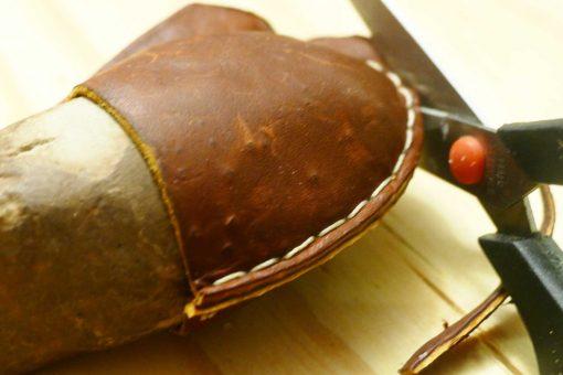 DIY Leather Wrapped Stone Nordstrom Knockoff | JenuneMom.com