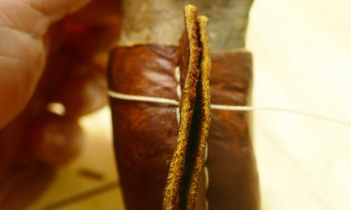 diy-leather-wrapped-stone-rock-sew8